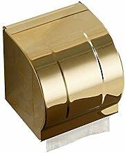 Hardwareh Baden europäische Goldene 304 Edelstahl Papier, Toilettenpapier Handtuchhalter geschlossen Hardware Pendantmodern Einfache und dauerhafte Dekoration klassischen Qualitätssicherung