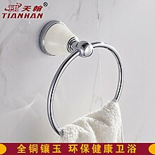 Hardwareh Tian Han, Kupfer, Kupfer, Chrom, Chrom, Handtuchhalter, Handtuchhalter und Badezimmer Towelmodern Einfache und dauerhafte Dekoration klassischen Qualitätssicherung