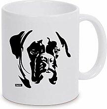 HARIZ Tasse Weiß Boxer Hund Hund Geschenkidee