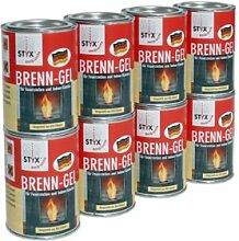 Hark Dekokamin Feuerkugel 8 x Pack Brenngel (9,23EUR/1l) Dekofeuer Gel Kaminofen