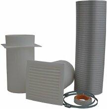 HARK Verbrennungsluftset Ø 150 mm inkl. Dichtband Flexrohr Rohr Kaminofen Kamin Ofen