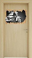 Harley Davidson Holzdurchbruch im 3D-Look , Wand-