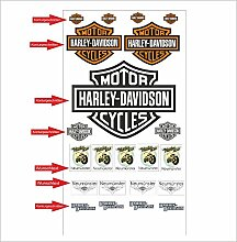 Harley Davidson Logo Autoaufkleber Aufkleber Decals Tuning Sticker Se