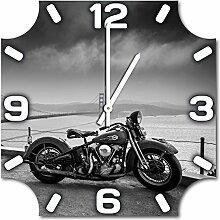 Harley, Design Wanduhr aus Alu Dibond zum Aufhängen, 30 cm Durchmesser, schmale Zeiger, schöne und moderne Wand Dekoration, mit qualitativem Quartz Uhrwerk
