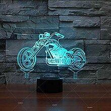 Harley Motorrad 3D LED Nachtlicht 3D Leuchten
