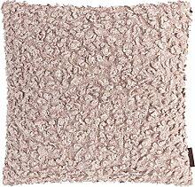 HARLOW stylische Kissenhülle mit Reißverschluss, Rückseite aus Samt, Samtkissen, Dekokissen, Struktur, Bobbelkissen, Jaquard, Tweed-Look (Rose, Kissenhülle ca. 50x50cm)