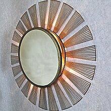HARMONIA Antik Kupfer Sunburst Strahlen Licht Wandspiegel von G Decor mir-14