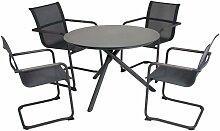 Harms - 5tlg. Tischgruppe Set Garten Tisch Stuhl