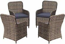 Harms - Garten 4x Polyrattan Sessel Stuhl