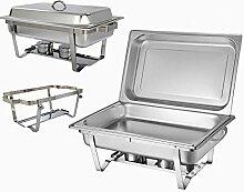 HaroldDol Chafing Dish Speisenwärmer Profi Set 9L
