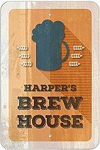"Harper 's Brew House–hausgebrautem Bier Bar Pub Club Kunststoff Schild, plastik, 8"""" x 12"""" (20.3cm x 30.5cm)"