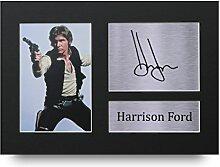 Harrison Ford Signiertes A4Gedruckt Autogramm, Star Wars Druck Foto Bild Display–tolle Geschenkidee