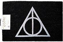 Harry Potter Fußmatte Deathly Hallows schwarz,