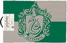 Harry Potter Fußmatte Slytherin grün und grau,