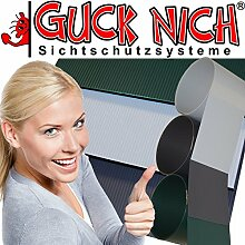 Hart PVC Sichtschutzstreifen 15 x in RAL 7040 hellgrau
