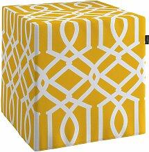 Harter Sitzwürfel, gelb, 40 x 40 x 40 cm, Comics