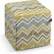 Harter Sitzwürfel, gelb-grau-braun, 40 x 40 x 40 cm, Acapulco