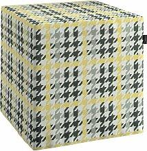 Harter Sitzwürfel, gelb-schwarz, 40 x 40 x 40 cm, Brooklyn