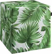 Harter Sitzwürfel, grün-weiß, 40 x 40 x 40 cm, Urban Jungle