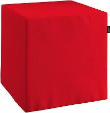 Harter Sitzwürfel, rot, 40 x 40 x 40 cm, Chenille