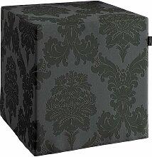 Harter Sitzwürfel, schwarz, 40 x 40 x 40 cm, Damasco