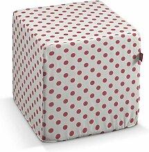 Harter Sitzwürfel, weiss- rosa, 40 x 40 x 40 cm, Ashley
