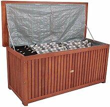 Hartholz Auflagenbox Akazie / 120x58x55cm