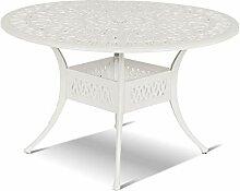 Hartman Amalfi Tisch, weiß aus Alu-Guss, antik,