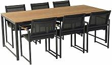 Hartman Fontaine Gartenmöbel-Set 7-tlg. Tisch