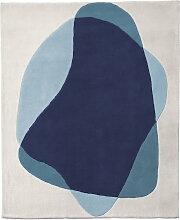 Hartô - Serge Teppich, blau / grau