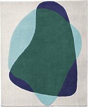 Hartô - Serge Teppich, blau / grün