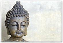 Hartschaum Bilder - Wandbild Buddha Gesicht