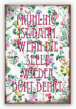 Hartschaum Bilder - Wandbild Frühling ist dann, wenn man wieder bunt denkt