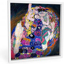 Hartschaum Bilder - Wandbild Klimt - Die Jungfrau