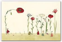 Hartschaum Bilder - Wandbild Leffler - Blumensamen
