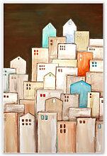 Hartschaum Bilder - Wandbild Melz - Großstadt