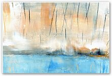 Hartschaum Bilder - Wandbild Niksic - Wasserblau