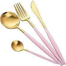 HARVESTFLY Gold Besteck Edelstahl Golden Messer