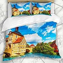 HARXISE Bettwäsche - Bettwäscheset Hall Blue