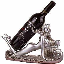 Harz Mädchen Wein Rack, Ägyptische Göttin
