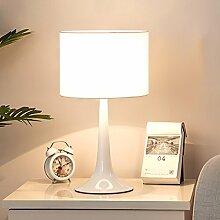 Harz Tischlampe Wohnzimmer Leselampe Nordischen Stil Schreibtischlampe ( Farbe : Weiß-Dimmschalter )
