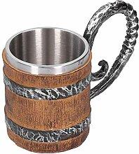 Harz Trinkbecher Eiche Fass Personalisierte Viking