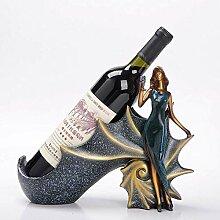 Harz Weinflaschenregal,hübsche Frau Weinregal