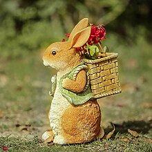 Hase Garten Pflanzgefäß Outdoor Statue Hase mit