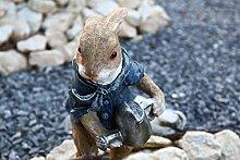 Hase mit Gießkanne Dekofigur Gartendeko Figur Pflanztopf Gartenfigur Hase Hasenfigur Gartendekoration
