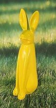 Hase sitzend gelb Figur Dekofigur Ostern