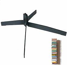 Haseform Standfuß für Bücherturm anthrazi