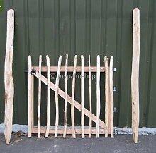 Haselnussholz Eingangstor Staketenzaun Eingang Tor - verschiedene Größen (100x100cm)