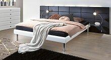 Hasena Designerbett Cordoba, 180x200 cm, weiß