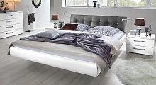 Hasena Designerbett Cosenza, 180x200 cm, weiß